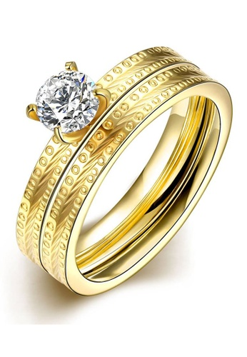 Sopistikada gold Tower Ring C Gold Plated Sizie 6 SO776AC12BHNPH_1