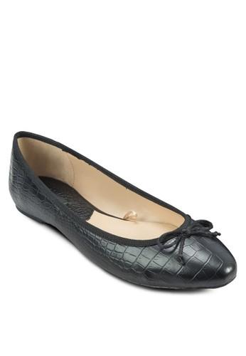 蝴zalora 心得蝶結鱷魚紋娃娃鞋, 女鞋, 鞋