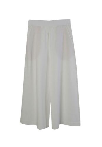 Giordano Ladies white Chintz Cotton Wide Leg Pants 3A877AA4E8522EGS_1