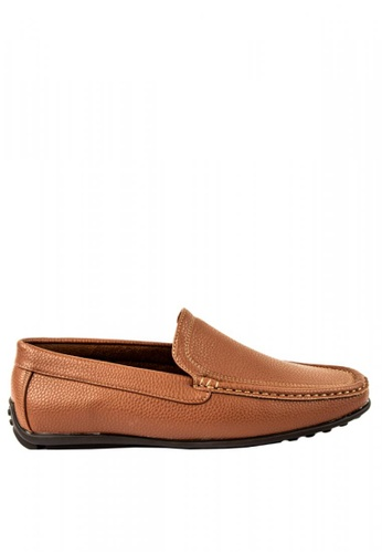 Otto brown Basic Slip-on Loafers C0CC0SH794DAC6GS_1
