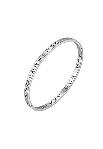 CELOVIS silver CELOVIS - Chantal Roman Numeral Bangle in Silver 49186ACDC75029GS_1