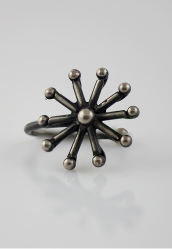Aadyaa Singapore silver Nose-Pin Snowflake - Clip on AB97CAC4F7D5F5GS_1