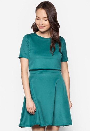 Gia 層次短袖連身裙,zalora 心得 服飾, 洋裝