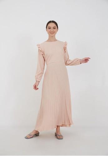 Berrybenka Label beige Sophie Muhara Ruffle Dress Cream 16873AA6D5F1DBGS_1