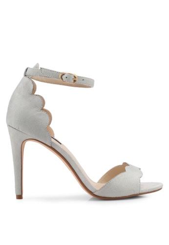 ZALORA grey Scallop Detailed High Heels CA07ESH208C32AGS_1