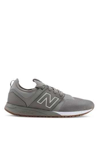 New Balance grey 247 Lifestyle Shoes 6D6C1SHF7304E8GS_1