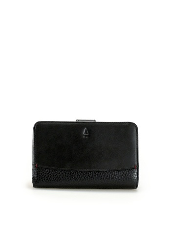 Gnome and Bow black and grey Antoinette Tab Wallet 3E130AC66F892DGS_1