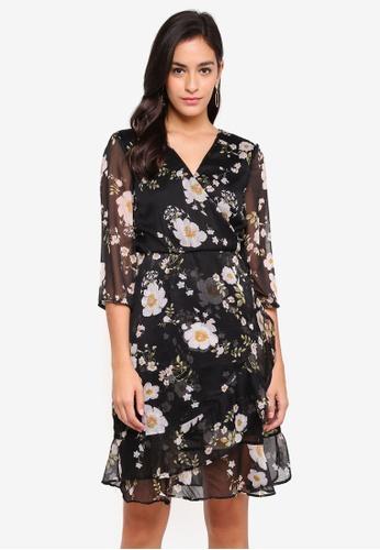 Vero Moda black VMKAY 3/4 SHORT DRESS FD6E7AADAE7C8AGS_1