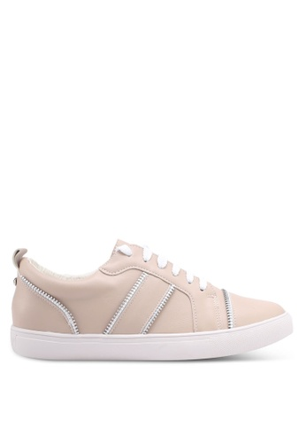 Something Borrowed pink Sneakers With Zipper Details A059FSHAB55F87GS_1