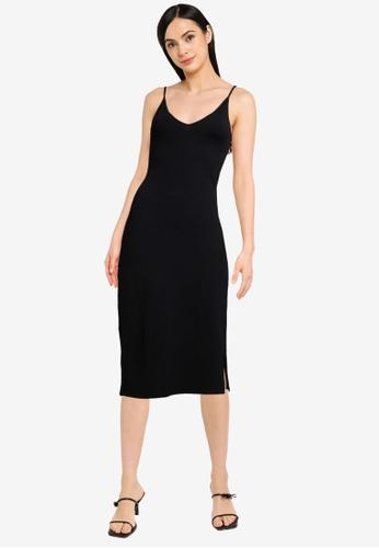 Abercrombie & Fitch black Seamless Knit Midi Dress 58E63AA947D112GS_1