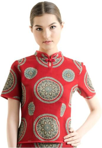 Bateeq Short Sleeve Dobby Print Blouse