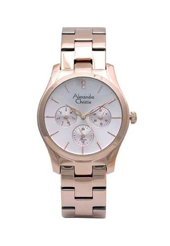 Alexandre Christie gold Alexandre Christie Jam Tangan Wanita - Rosegold - Stainless Steel - 2910 BFBRGLN A06F6AC421C187GS_1