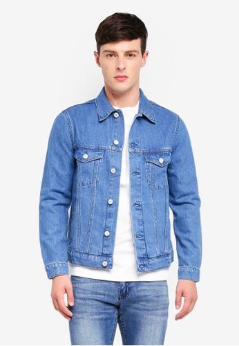 MANGO Man blue Vintage Light Wash Denim Jacket CFC9AAAB2FB4E0GS_1