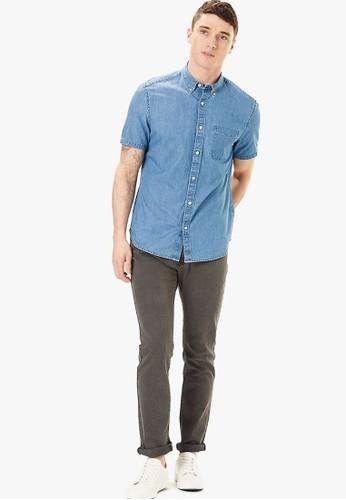 MARKS & SPENCER blue Pure Cotton Denim Shirt 340FCAAF7F2DCBGS_1
