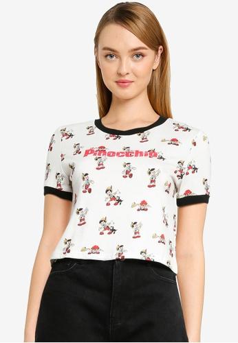 Urban Revivo white Pinocchio T-Shirt 33738AA7EF132CGS_1