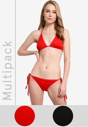 PINK N' PROPER 黑色 and 紅色 基本比基尼套裝 819BCUSACC83FCGS_1
