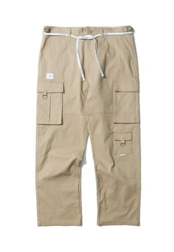 Fivecm beige Straight cargo pants 82E79AABEC05ECGS_1