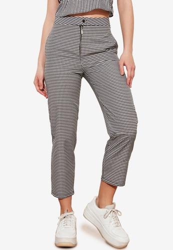 Trendyol black Petite Checkered Pants E9880AA224E31DGS_1