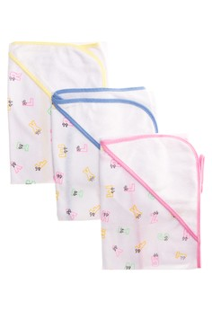 Milky Way Bath Towel Letters Set of 3