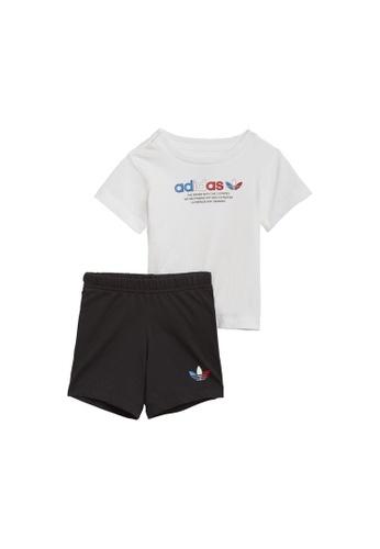 ADIDAS white adicolor shorts and tee set D6EE7KAF51732DGS_1