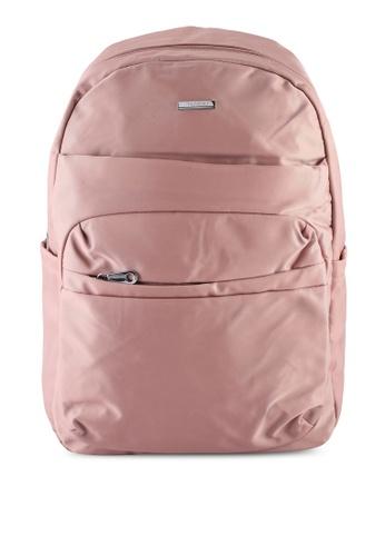 NUVEAU pink Lightweight Nylon Backpack 1E79EAC35AAEB2GS_1