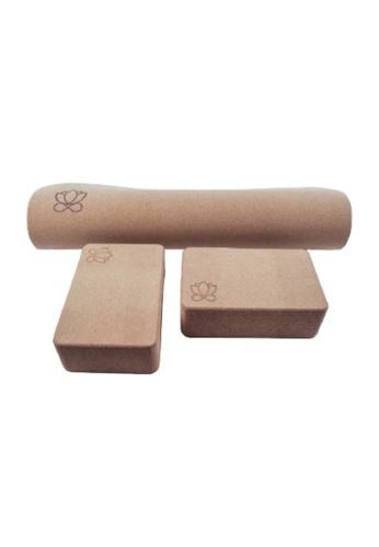 OHMfinity brown OHMfinity Yoga Bundle 2: Mat & Blocks 55375SE0CBF118GS_1