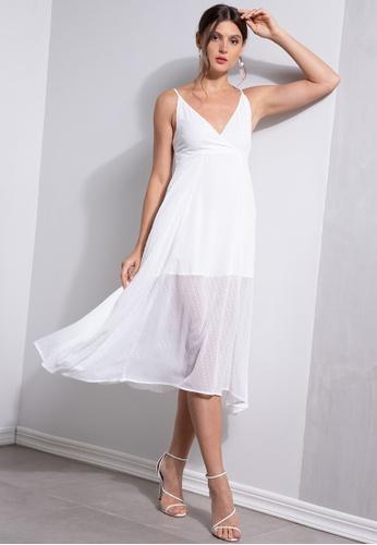 ZALORA OCCASION white Wrap Cami Dress B8C4EAA9A3397DGS_1