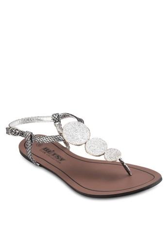 亮飾繞踝平底涼鞋, 女鞋esprit台灣網頁, 鞋