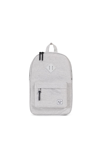495c3282c4 Herschel grey Herschel Heritage M Backpack (Light Grey X Grey Rubber) - 14.5
