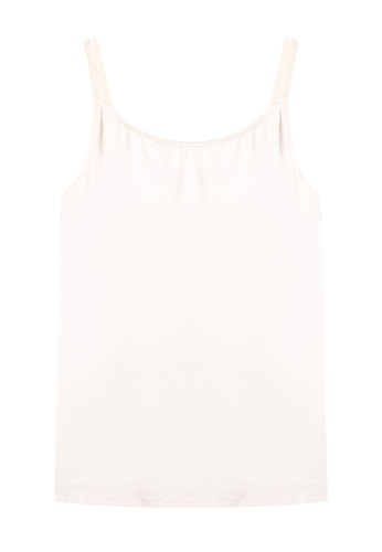 Impression pink Nursing Camisole With Easy-To-Open Clasps & Inner Bust Support F9FF6US507AE70GS_1