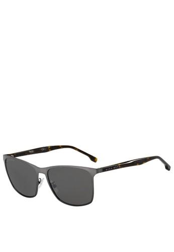 Hugo Boss grey Square 1291/F/S Sunglasses E5AF2GL210C522GS_1