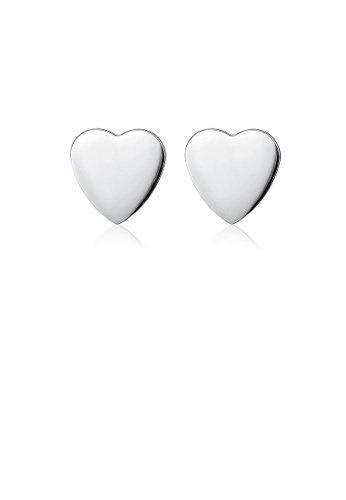 Glamorousky silver 925 Sterling Silver Mother's Day Heart Stud Earrings E3029ACEBA36C6GS_1