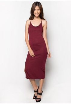 Spag Maxi Slit Dress