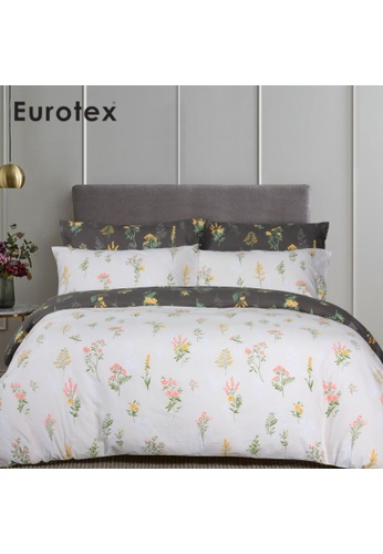 Eurotex Eurotex Loft Living, 900 Thread Count 100% Cotton, Fitted Bedsheet Set (without Quilt Cover) - Clarabelle 559B4HLCBF88C7GS_1