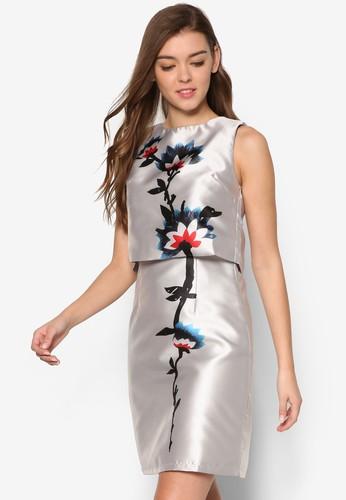 Carolina's 兩件式印花連esprit outlet 高雄身裙, 服飾, 洋裝