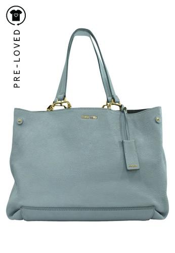 Miu Miu grey Pre-Loved miu miu Light Gray Leather Tote Bag C083EAC412174DGS_1