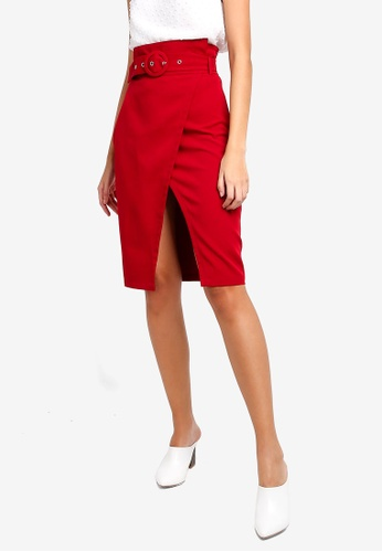 ZALORA red Wrap Skirt F99CEAA59B04AAGS_1