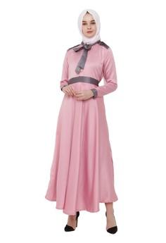 Olive Long Dres Pink