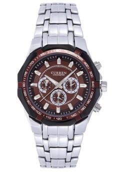 CURREN 8084 Stainless Steel Coffee dial Men's Watch