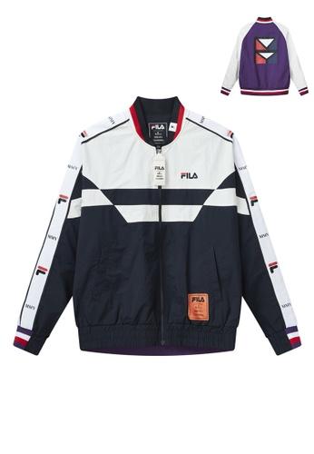 FILA navy FILA x Maison MIHARA YASUHIRO Logo Color Blocks Bomber Jacket B822EAAE73554BGS_1