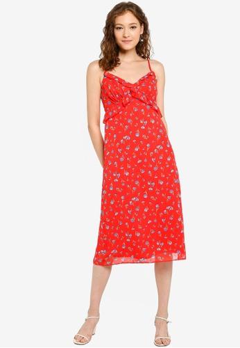 989cd3e9afde Buy Dorothy Perkins Strappy Ruffle Floral Slip Dress Online | ZALORA ...