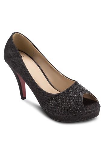 閃飾露esprit outlet 桃園趾厚底高跟鞋, 女鞋, 魚口鞋