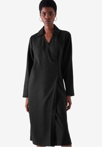 COS black Tailored Wrap Dress 3F359AA6B7133CGS_1
