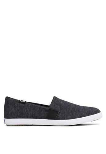 Keds black Chillax A-Line Sweatshirt Jersey Slip Ons KE942SH0RJ6HMY_1