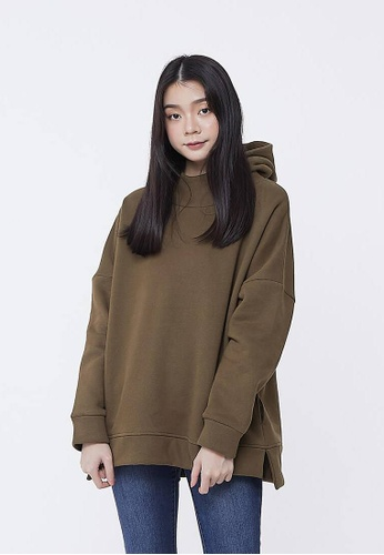 0e9c981a so that's me green Claire Pure Color Pullover Hoodie Sweatshirt Olive Green  E6767AA435E7BBGS_1