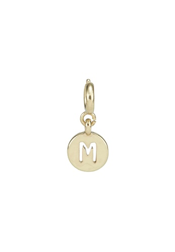 My Flash Trash gold Gold letter charm m FF70DAC3134C3BGS_1