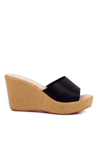 Clarette black Clarette Wedges Crystaline Black CL076SH04QHVID_1
