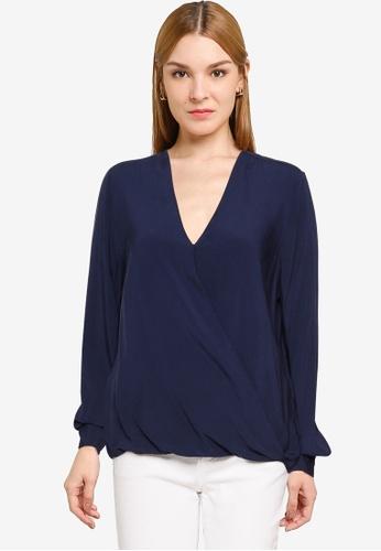 OVS blue Long Sleeves Blouse A5051AA6248EE1GS_1