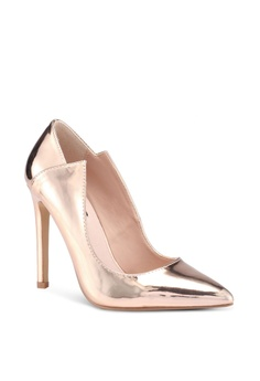 Lost Ink IMOGEN HALF BOW FLAT SHOE - Classic heels - black
