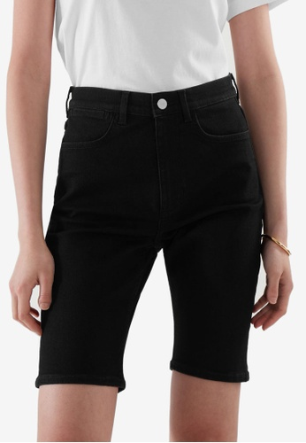 COS black Skinny Denim Shorts 29E91AAB8C1081GS_1